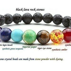 7 Chakra Healing Bracelet  Volcanic Lava Unisex